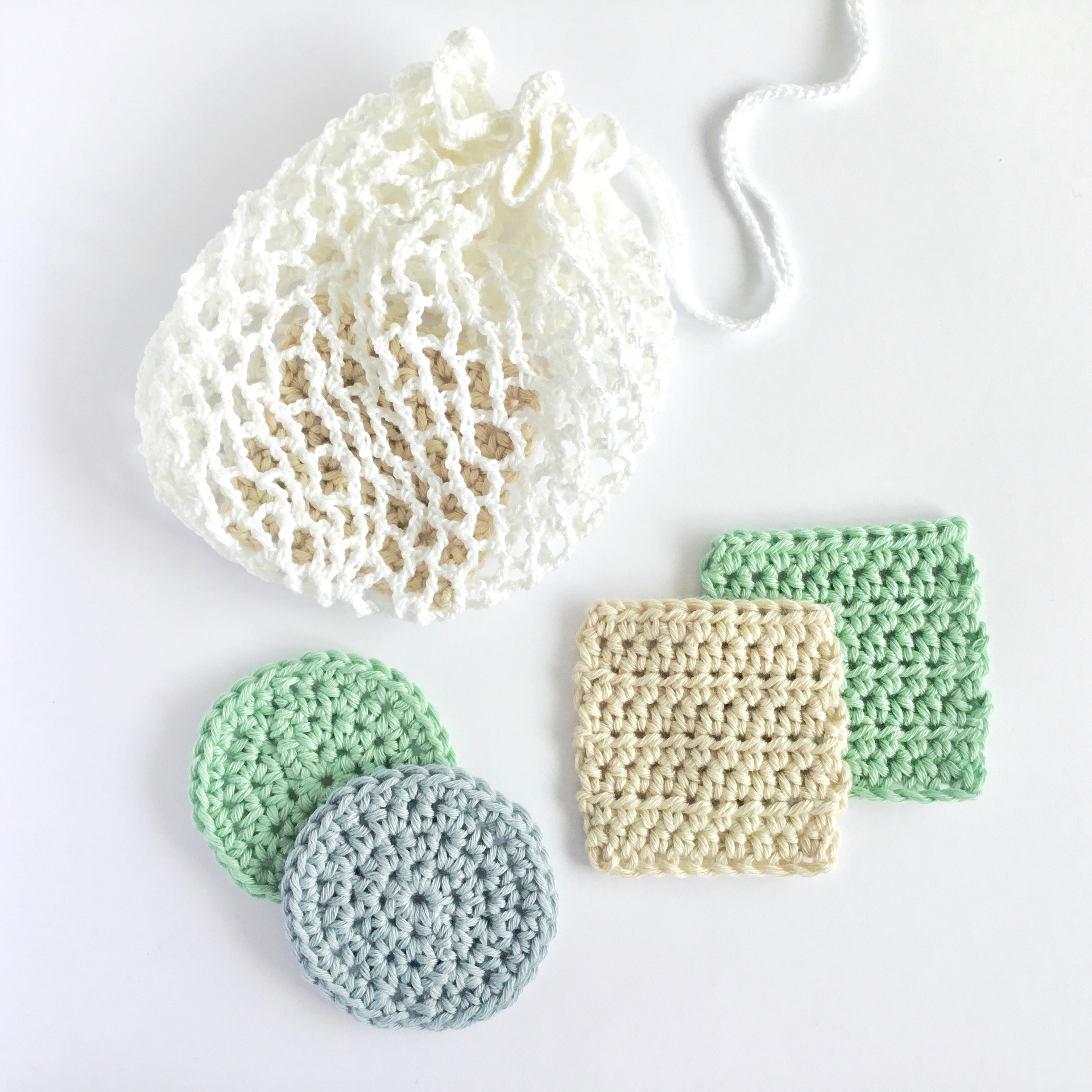 Crochet Face Scrubbies and Laundry Bag Pattern