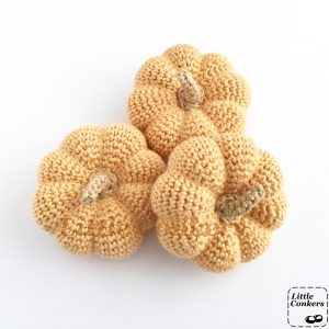 Crocheted Pale Orange Pumpkins