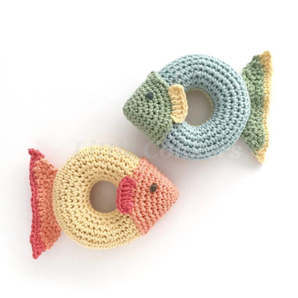 Grippy Ring Fish Toy Crochet Pattern