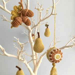 Seasonal Hanging Ornaments on a Twig Tree