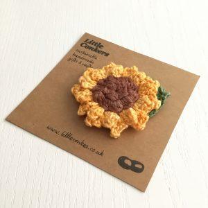 Handmade Sunflower Brooch