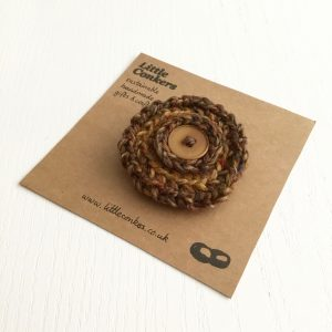 Handmade Brooches in Recycled Wool