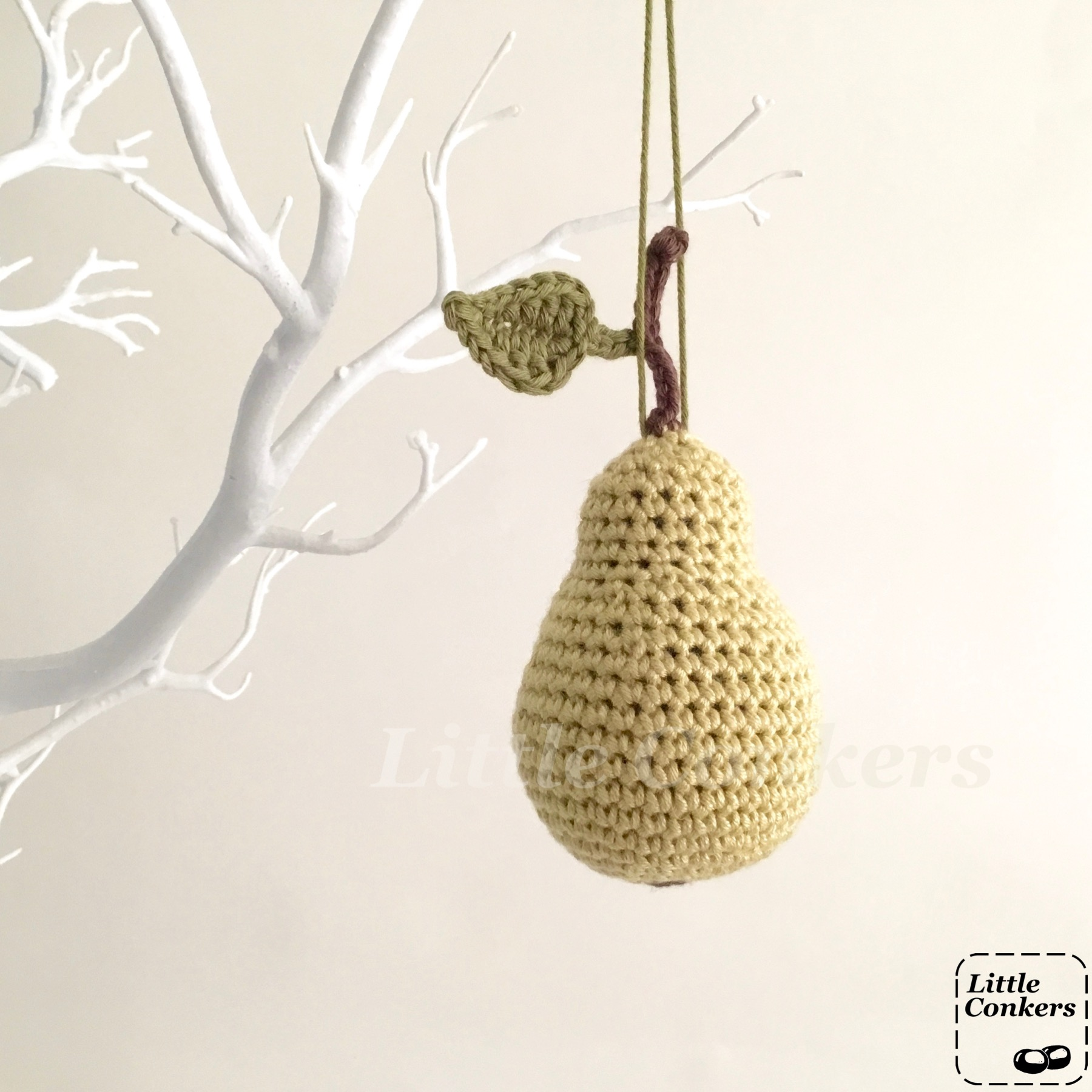 Hanging Pear Ornaments
