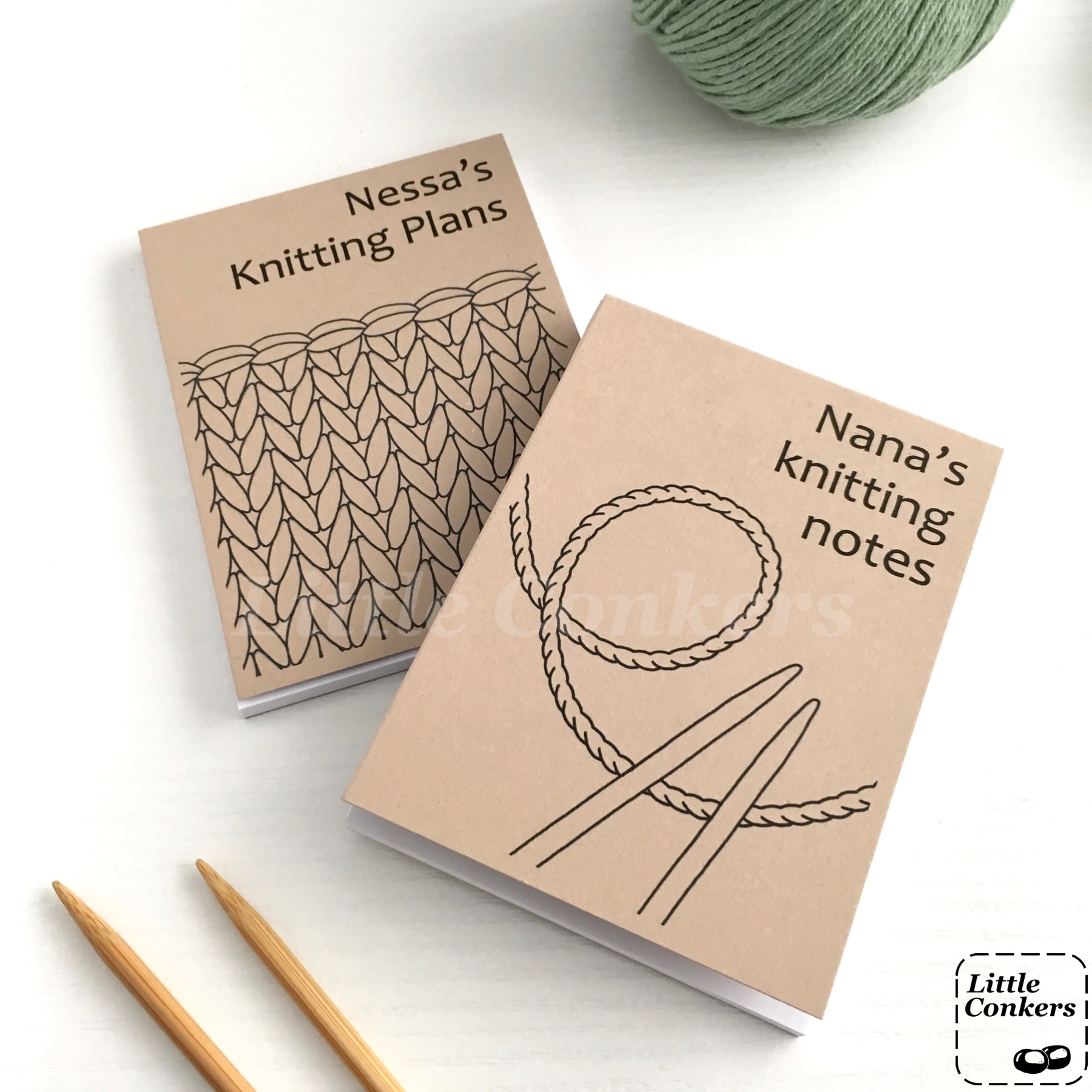 Personalised Notepads for Knitters