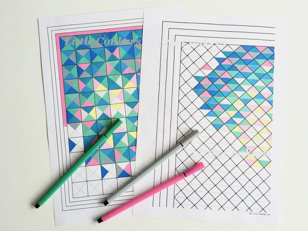 Half Square Triangle Ombre Blanket