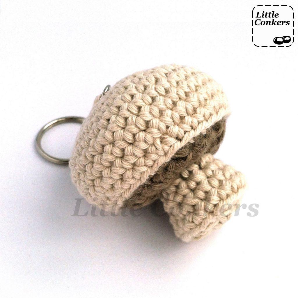 Eco-friendly Mushroom Keychain in Organic Cotton