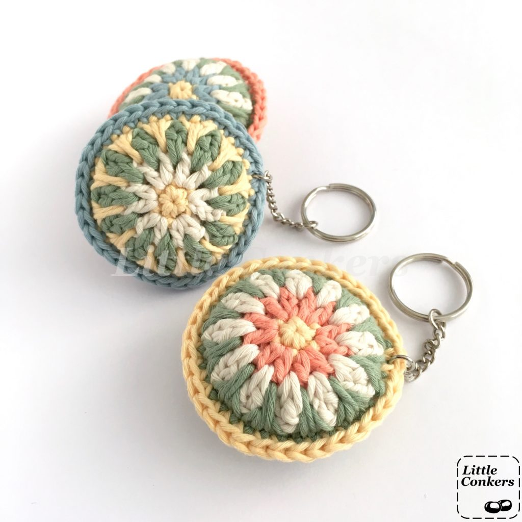 Organic Cotton Keychains in Pastel Colours