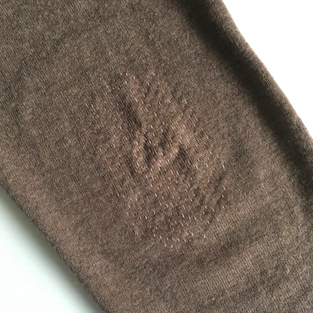 Reinforcing Elbows on a Woollen Jumper using Darning Techniques