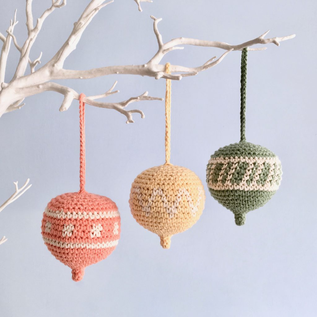 Spring Twig Tree Ornament Crochet Pattern