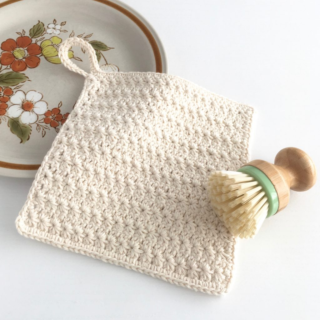 Star Stitch Dishcloth Crochet Pattern