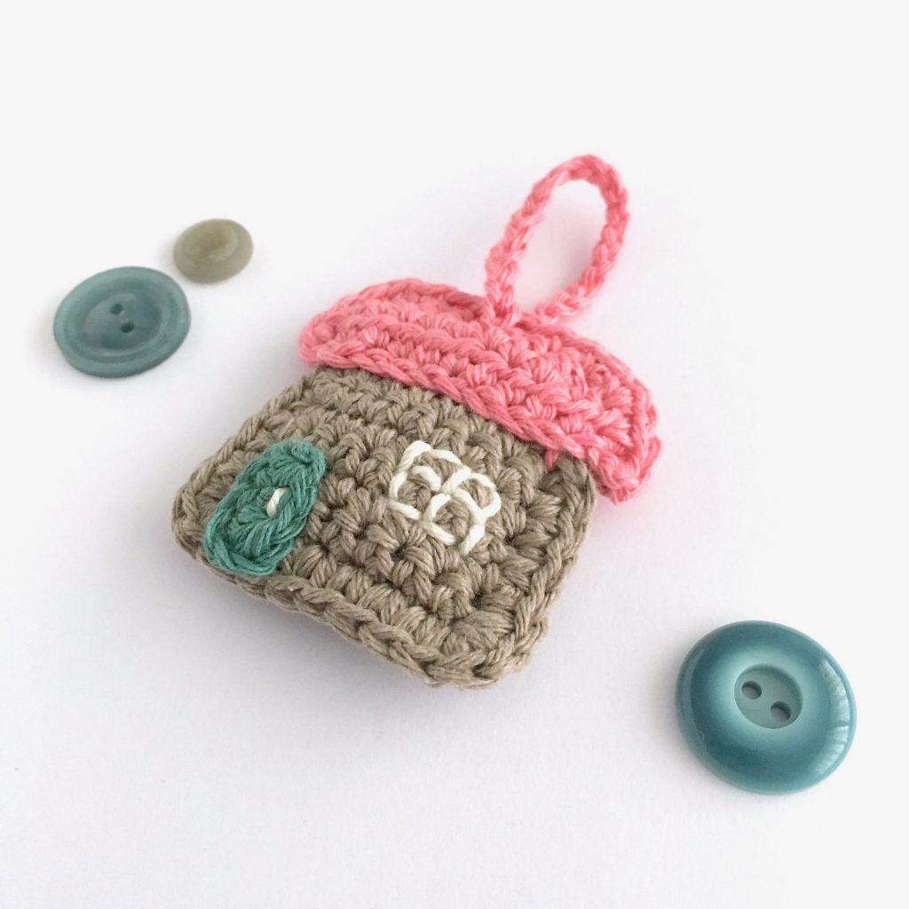 Cottage Keychain Crochet Pattern