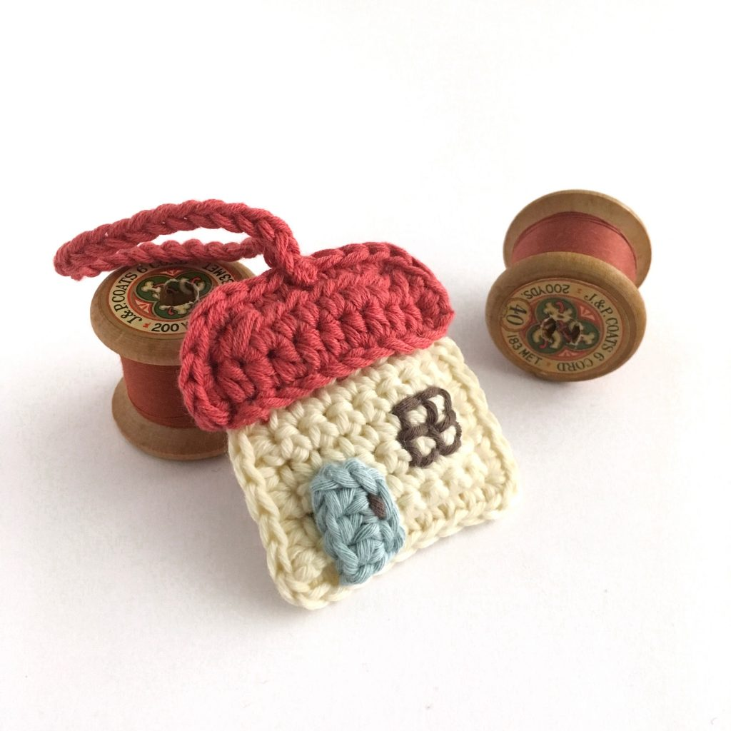 Cottage Keychain Crochet Pattern
