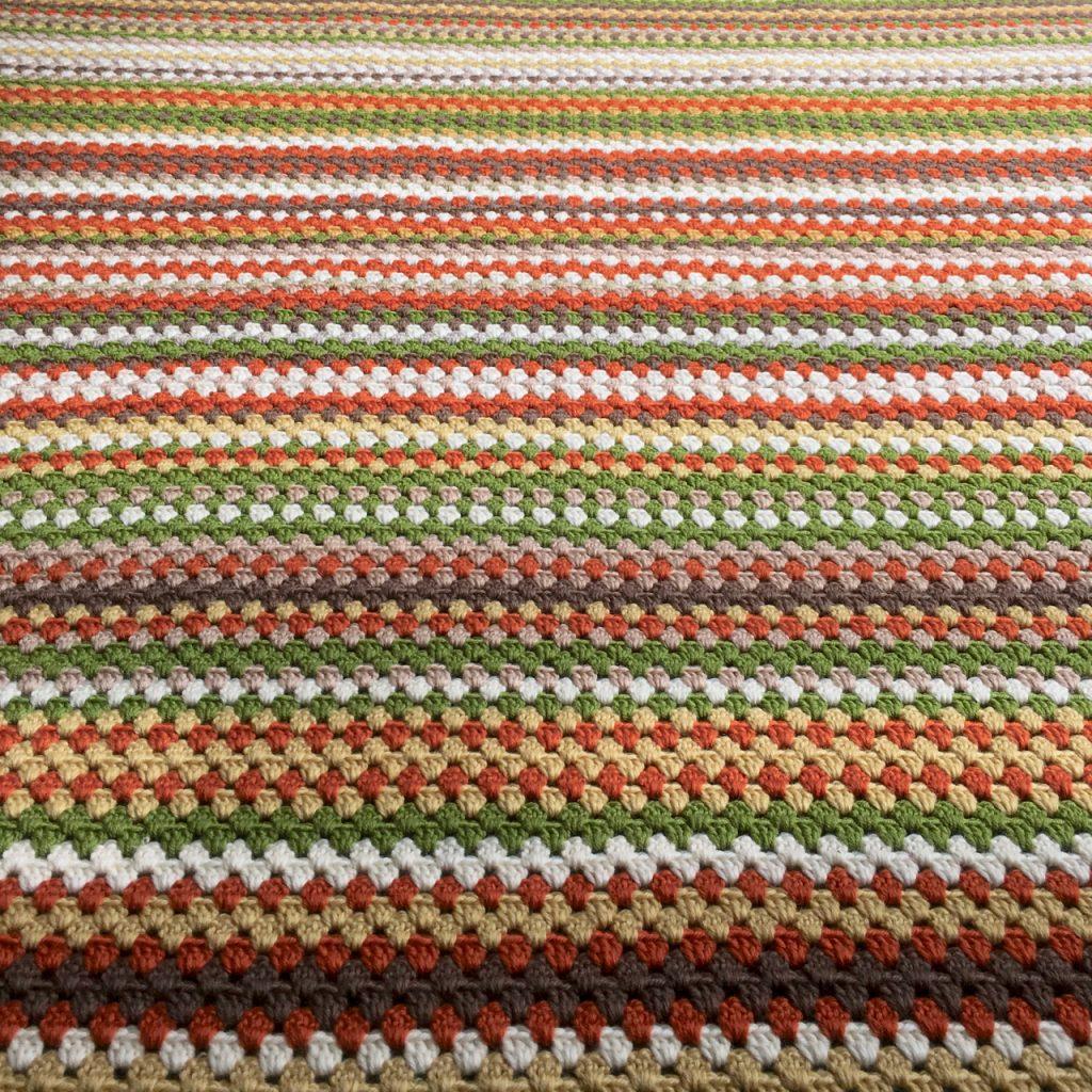 Granny Stripe Crochet Blanket