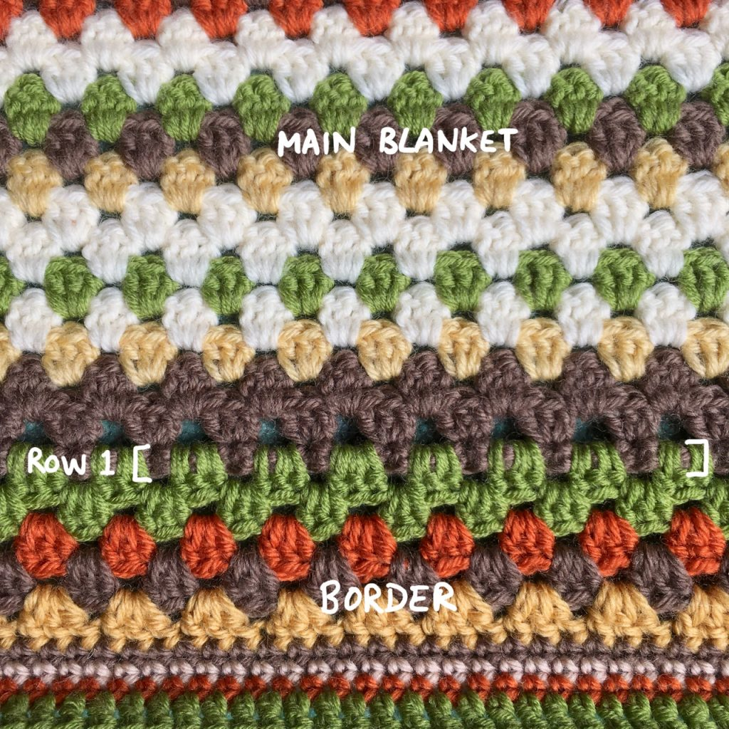 Crochet Granny Stripe Blanket Border