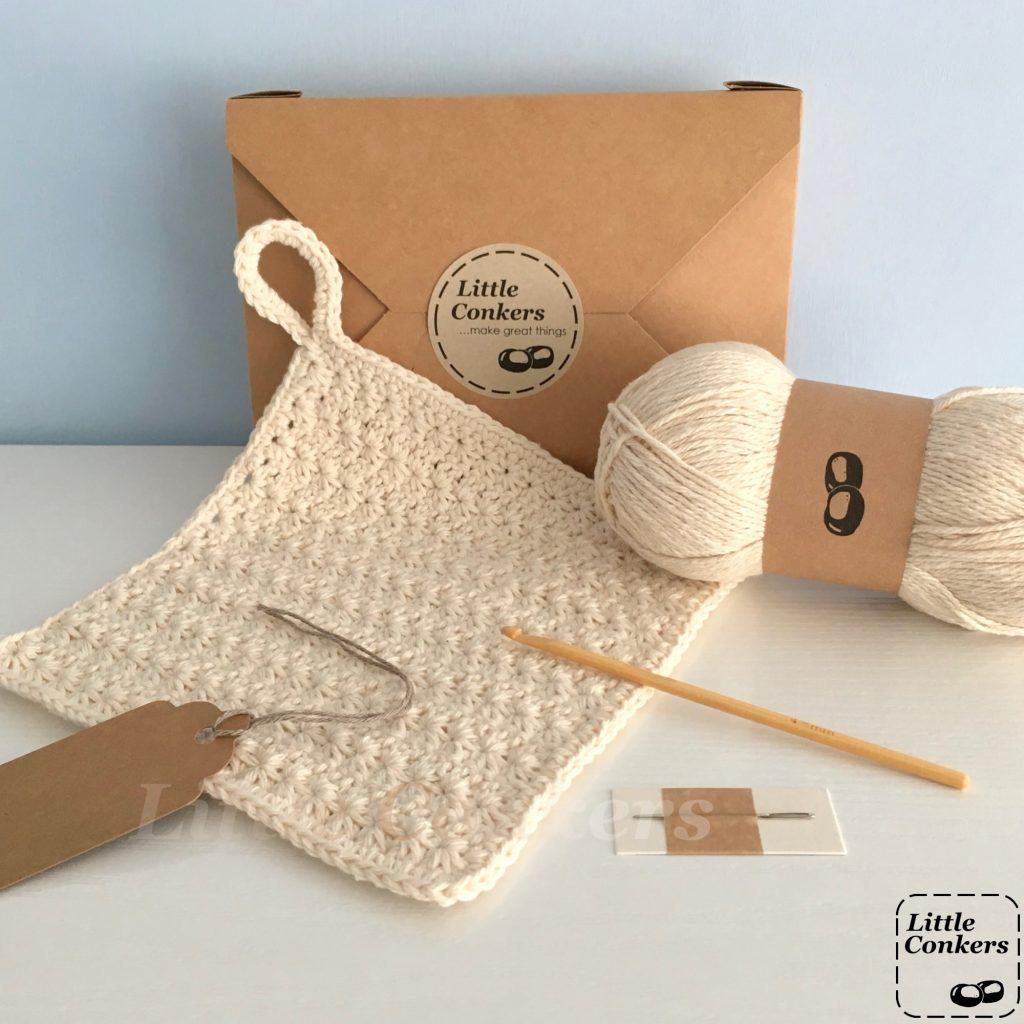 Eco-friendly Star Stitch Dishcloth Crochet Kit