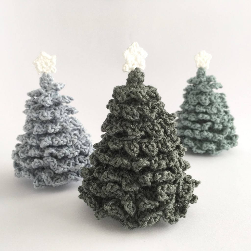 Miniature Crocheted Christmas Tree