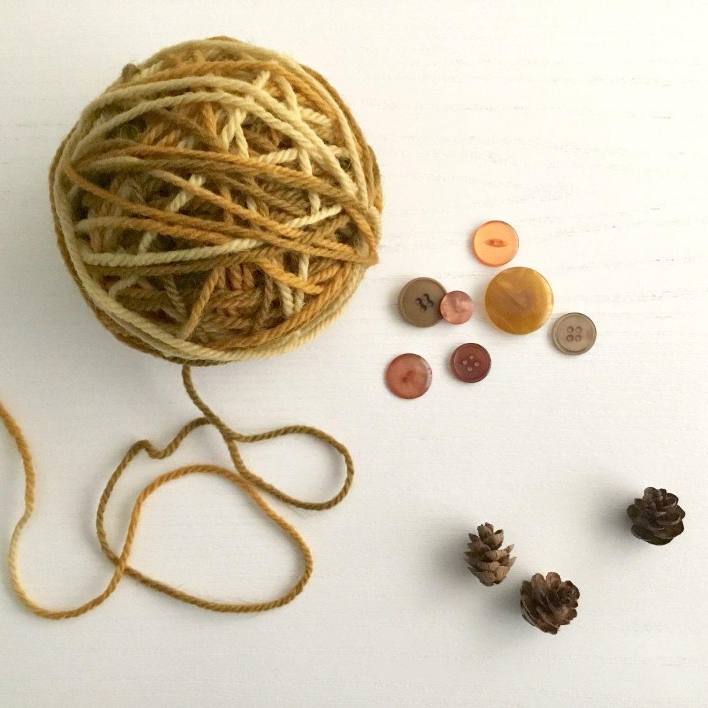 LoveBugsYarn hand-dyed aran yarn in 'Airship Pirates' colour way