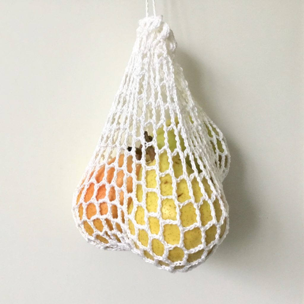 Crochet pattern for a reusable produce bag